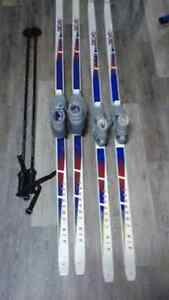 X country skis 195 and 205s and boots. London Ontario image 1