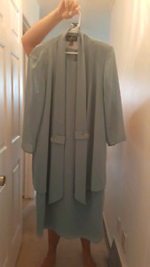 Beautiful dress with jacket.  Size 16.  Worn once.