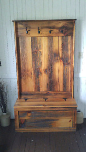 Barn Board Hallway Tree and Storage Bench