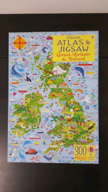 Usborne Atlas&Jigsaw Great Britain&Ireland