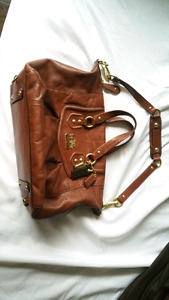 Brown Leather Coach Purse - Handbag