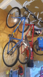 Two Gary Fisher mountain bikes early 2000s