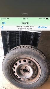 185-70-14 Hankook hiver avec roue