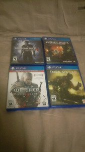 PS4 games for sale/trade!