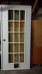 EXTERIOR GLASS FRENCH DOORS  (WITH SMALL PET INSERT) North Shore Greater Vancouver Area image 2
