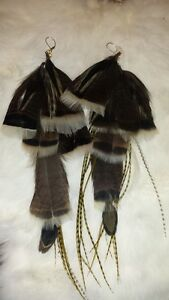 ~*Feathery Friends feather earrings By Typsy Gypsy Dottie*~