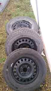 Winter kumho tires with rims  Prince George British Columbia image 1