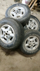S10 blazer rims and tires 235/75r15