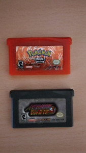 Pokemon Fire Red and Megaman Battle Network 3 for GBA