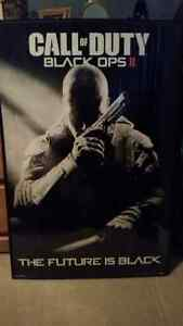 COD - Call Of Duty Black Ops II (2) Poster & Frame - EUC