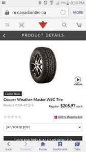 Winter tires for sale Strathcona County Edmonton Area image 1
