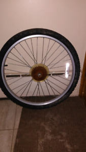 Set of Tires and Chrome rims for sale