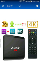 WATCH FREE TV*NEW A95X 7.1  2G/16G & BACKLIT KEYBOARD MOUSE