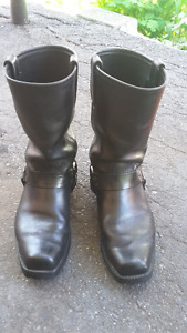 Boots Frye all leather blk s12 mens