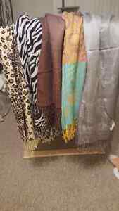 Different Patterned Scarves- Good Condition