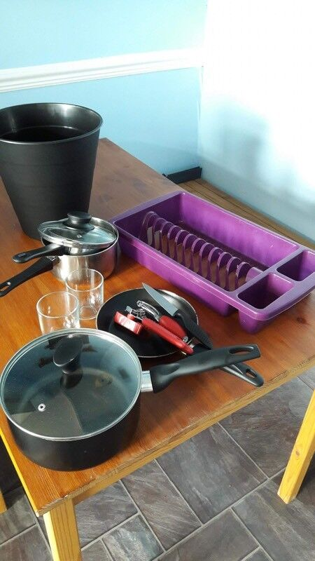 Kitchenware and drying rack