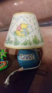 Classic Winnie the Pooh Lamp and Framed Picture