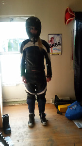 Teknic motorcycle riding leather suit