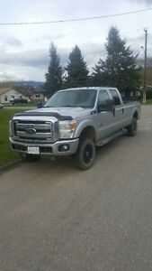 2012 Ford F-350 grey Pickup Truck long box
