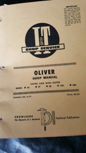 Oliver tractor 66 77 88 770 880 manual
