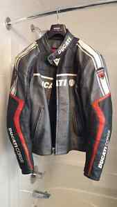 Ducati Coarse Leather Motorcycle Jacket made by Dainese Rare