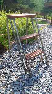 Vintage wood and meal step ladders