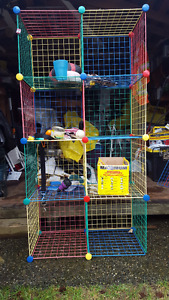 8 Section Coloured Wire Shelf
