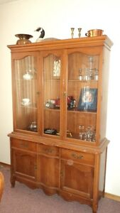 Dining table/5 chairs and china cabinet buffet