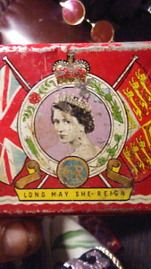Queen Elizabeth II 1953 Tin. $20