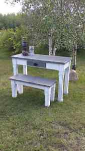 Rustic style entryway table and bench  Strathcona County Edmonton Area image 3