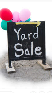 Yard sale TODAY, Saturday June 2nd.