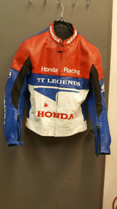 Leather Racing jacket with pads