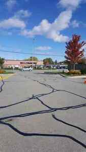 Parking Lot Line Painting - Hot Rubberized Crack Sealing  Cambridge Kitchener Area image 2