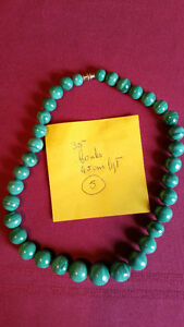 Superbe collier en Malachite