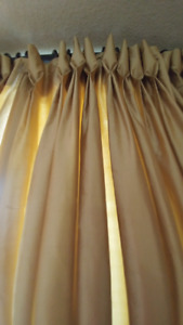 Silk custom made curtains, double side with white cotton,