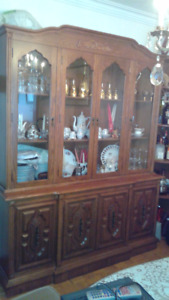 Wood Dining Set, 6 chairs, table,buffet w/hutch