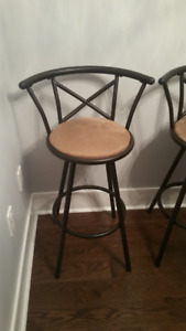 3 Bar Stools / Chairs — Swivel Bar Stools for Island or Bar.