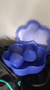 Tupperware chip and dip bowl