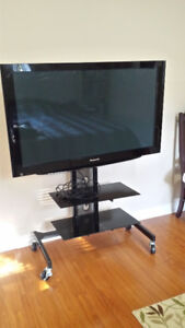 Panasonic HDTV with mounted stand