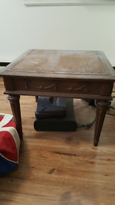 Antique brown side table