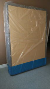 Double Size Box Spring And Bed Frame With Wheels