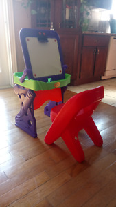 Plastic crayola magnetic white board easel