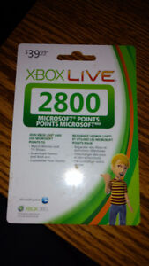 Microsoft Points Card $40 Value