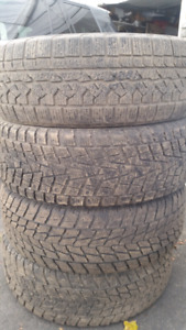 245  60 R18  winter tires. Only one seasons used