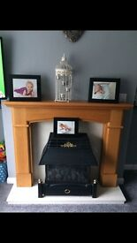 Gas fire and mantle peice