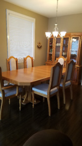 Dining Table chairs and China Cabinet