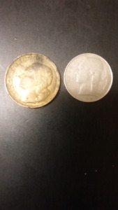 Golden and Silver color coins