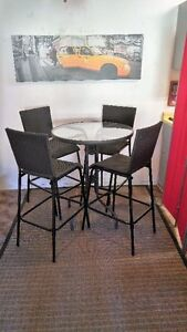 JUST IN TIME FOR SUMMER 4 HIGH BACK AND SOUND TABLE BISTRO