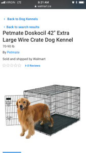 "Petmate Doskocil 42"" wire Kennel"