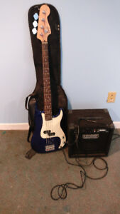 Fender Bass Guitar & Amp Kit for Sale